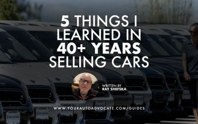 The Five Most Important Things I Learned in 40+ Years in the Car Business
