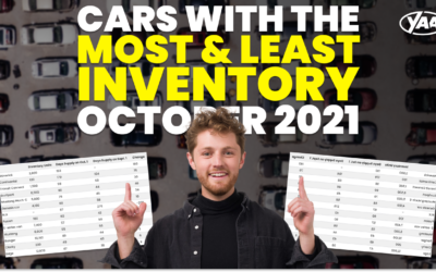 Cars With The Most & Least Inventory – October 2021