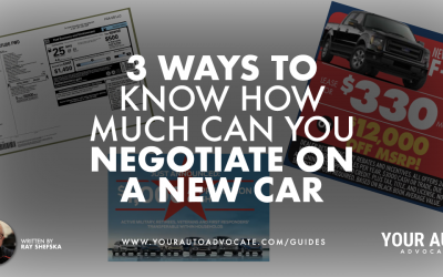 3 Ways to Know How Much Can You Negotiate on a New Car