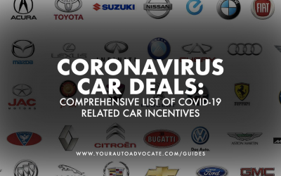 Coronavirus Car Deals: The Comprehensive List of COVID-19 Related Car Incentives