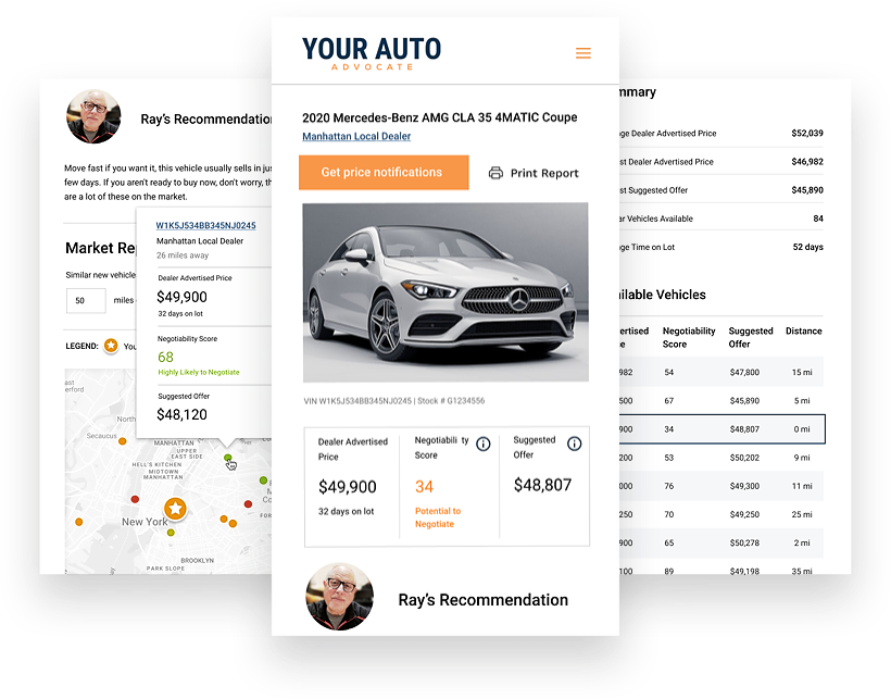your auto advocate platform screenshots