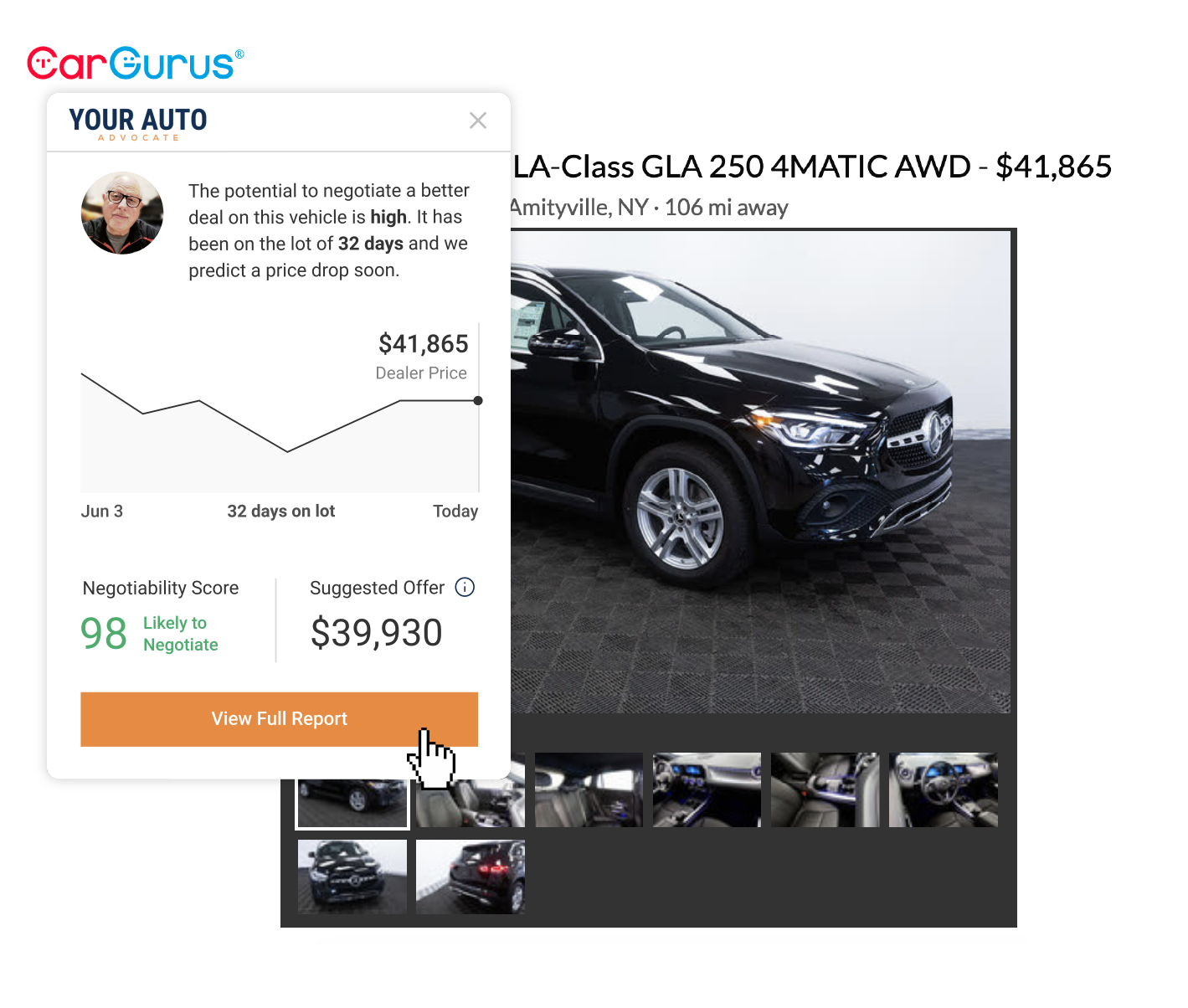Your Auto Advocate Browser Extension - step 3