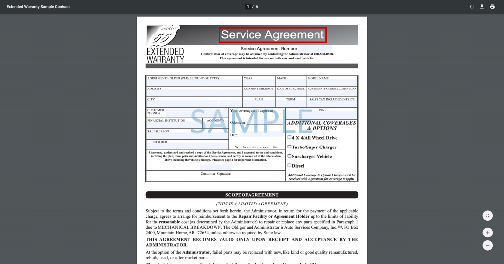 Extended-Warranty-Sample-Contract