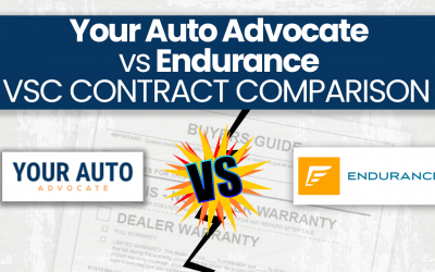 Your Auto Advocate vs. Endurance Extended Warranty